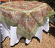 "Pair our organza with 110"" white, green or red  round Provence tablecloth"