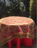 "PAIR OUR ORGANZA WITH 110""GREEN OR RED ROUND PROVENCE TABLECLOTH"