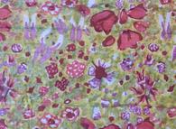 Jardin Red Green Organza Tablecloth