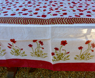 Poppies Organza Tablecloth