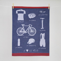 "Biking ""Vélo"" Kitchen Towel"