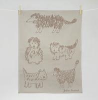 "Dogs ""Les Chiens"" Kitchen Towel"