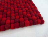 Felt Trivet Red/Burgundy