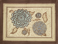 Dahlia Blue Brown Placemats