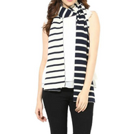 Scarf, Navy Stripe