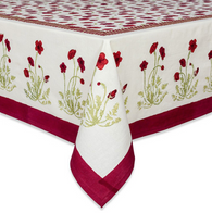"71 x 142"" Poppies Tablecloth"