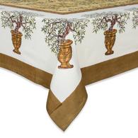 "71 x 142"" Olive Tree Tablecloth"