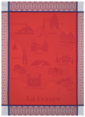 Balade en France Red Kitchen Towel