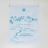 Compostelle pilgrimage Kitchen Towel