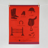 Horse Riding Kitchen Towel