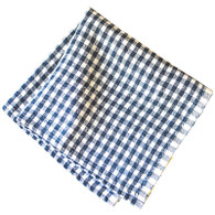 Classic Gingham Napkins (Blue/Ivory), Set of 4