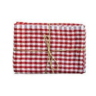 Classic Gingham Napkins (Red/White), Set of 4
