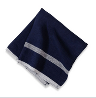 Laundered Linen Napkin (Indigo/White Stripe) Set of 4