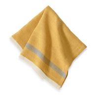 Laundered Linen Napkin (Mustard/ Grey Stripe) Set of 4