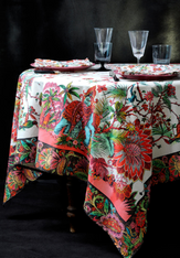 Les Indes Multicolors coated Tablecloth