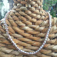 Fresh Water Pearl Natural Leather Necklace
