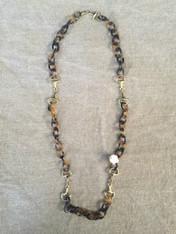 Horsebits Golden Brown Necklace