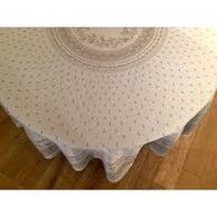 Durance Raw Ecru Tablecloth