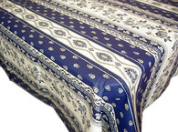 Avignon Blue Coated Tablecloth