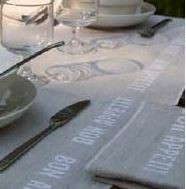 Bon Appetit Linen White Tablecloth