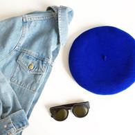 Laulhère Béret L'authentique Bleu Vif