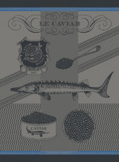 Caviar liseré Bleu Kitchen Towel