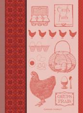 L'oeuf et la poule Kitchen Towel