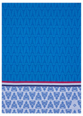 Allover Paris Blue Kitchen Towel
