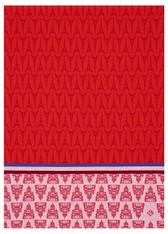 Allover Paris Red Kitchen Towel