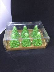 GREEN CHRISTMAS TREE VOTIVES
