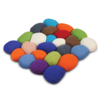 Felted Pebble Cushion - multi color