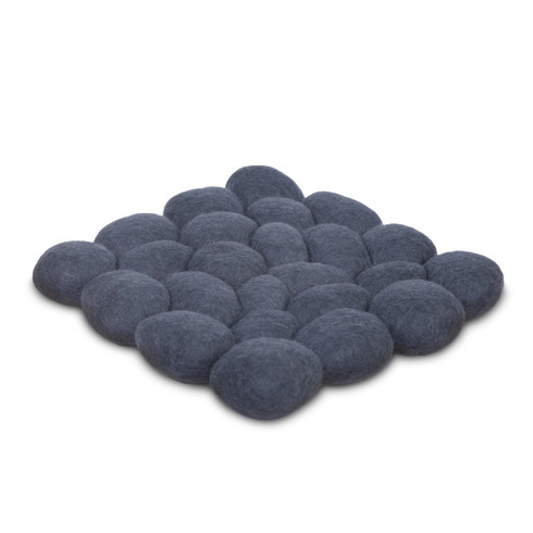 "14'x14"" elted Pebble Chair Cushion  in Grey Great for meditation. Great for kids room Great Gift."