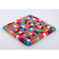 Felted Trivet - multi color
