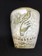 "ceramic glass ""dove on a hand"""