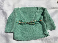 Classic newborn Sweater in Green