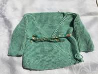 Classic newborn Sweater in Green