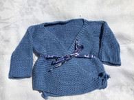 Handmade Classic Newborn Sweater in Blue