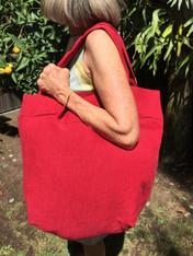 Red Linen Bag