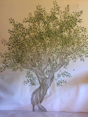 Huge Painted OLIVE TREE