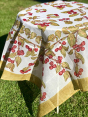 Cherry Organza Tablecloth