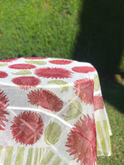 "71""x71"" Tournesols Organza Tablecloth"