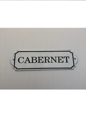 """Cabernet"" Metal Decorative Wall Placard"