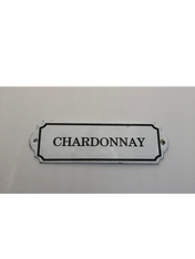 """Chardonnay"" Metal Decorative Wall Placard"