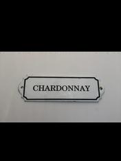 """Chardonnay"" Metal Decorative Wall Placard"
