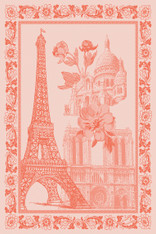 Paris en Fleurs Kitchen Towel Papaye