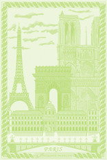 Paris Vert Garden Kitchen Towel