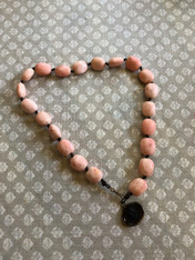 Antique Pink Stone Necklace