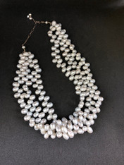 Freshwater Pearl Three Strand Necklace