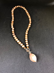Pink Freshwater Pearl with Stone