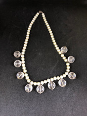 Pearl with Clear Bead Necklace
